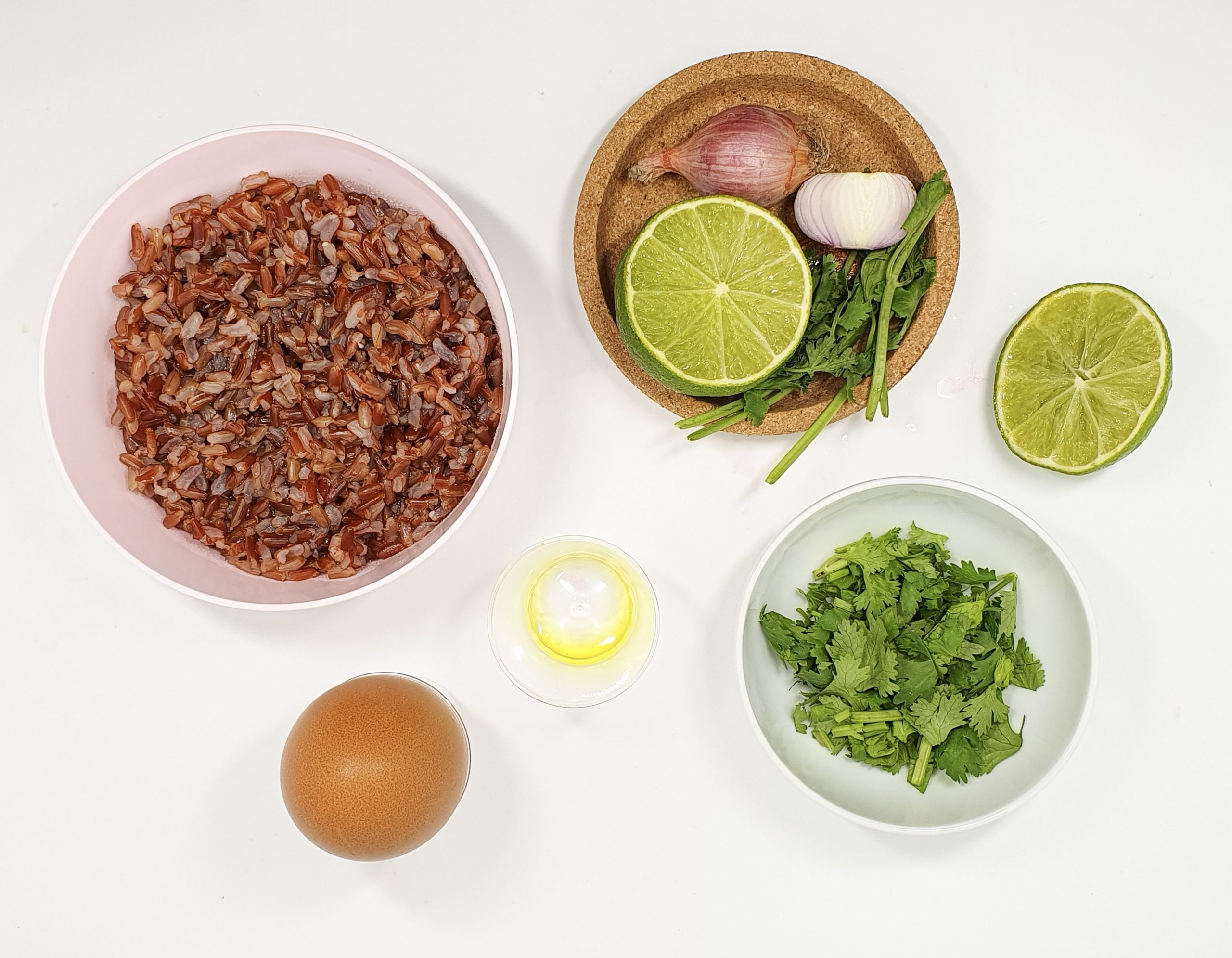 Flat lay image of the ingredients for this recipe