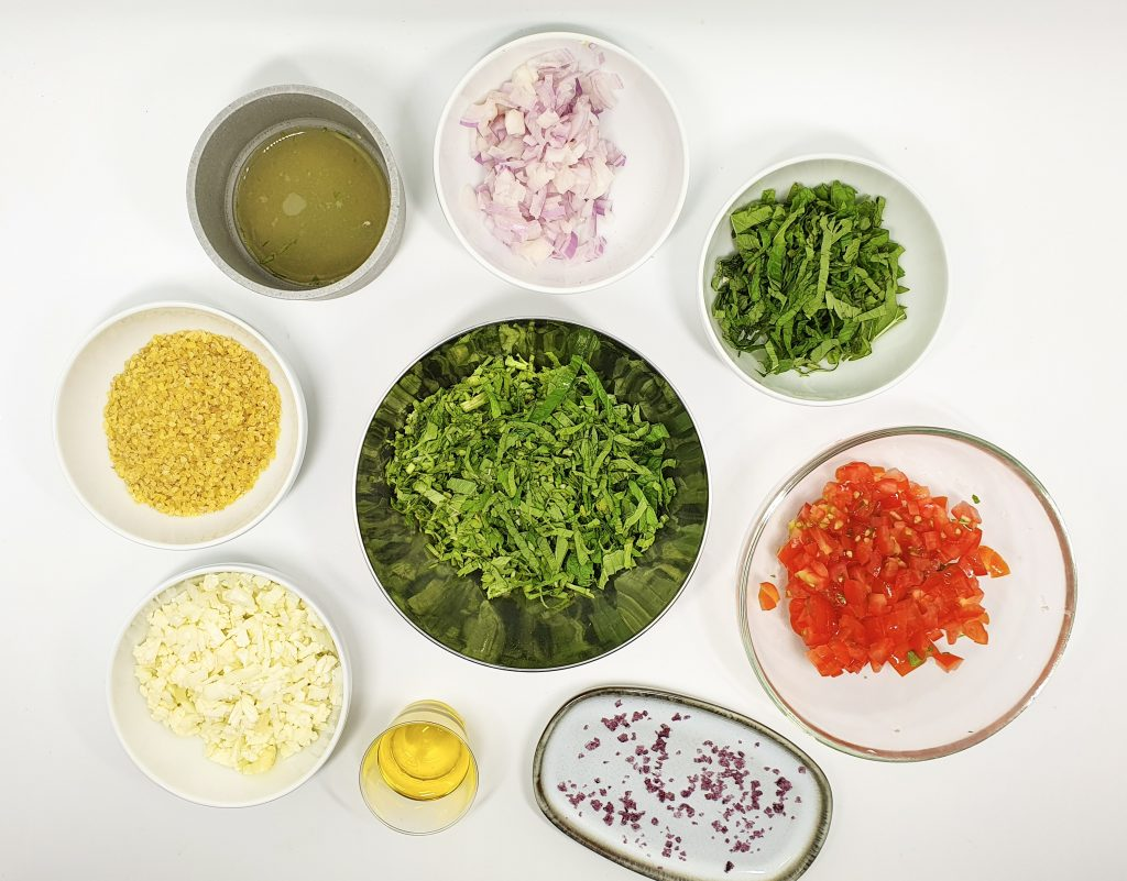 Ingredients for low carb tabbouleh